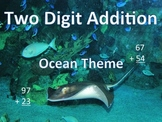 Two Digit Addition with Ocean Animals- Vertical (15 pages)