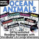 Ocean Animals Unit Bundle *DIGITAL AND PAPER* Reading Comprehension Passages