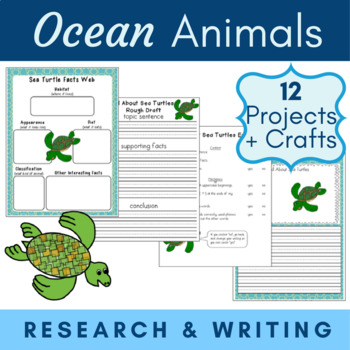 Ocean Unit {1st 2nd CCSS Informative Writing + Craft Projects}