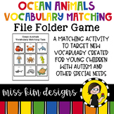 Ocean Animals Vocabulary Folder Game for Students with Autism & Special Needs