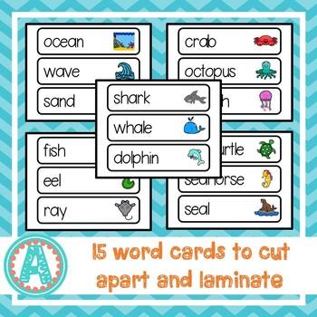 Ocean Animals Word Cards