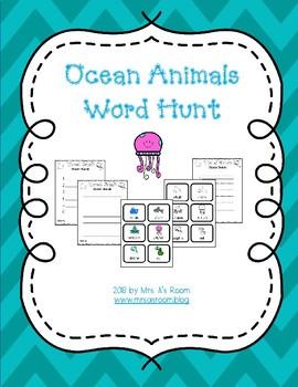 Ocean Animals Word Hunt/Write the Room