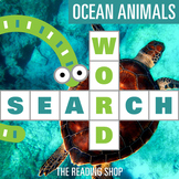 Ocean Animals Word Search Puzzle - 3 Levels Differentiated