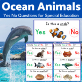 Ocean Animals Worksheets - Yes No Questions for Speech Therapy
