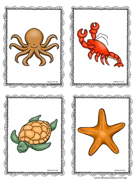 Ocean Animals Write and Coloring Pages PreK and Kindergarten