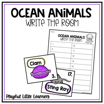 Ocean Animals Write the Room