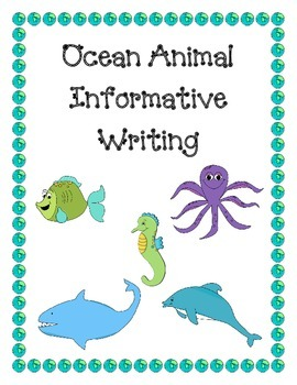 Ocean Animals Writing