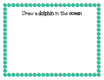 Ocean Animals Writing