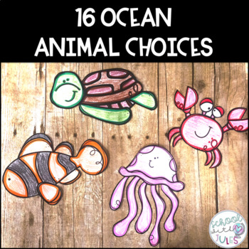 Ocean Animals Writing Craftivity