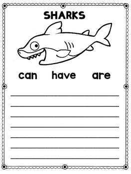 Ocean Animals Writing Journal