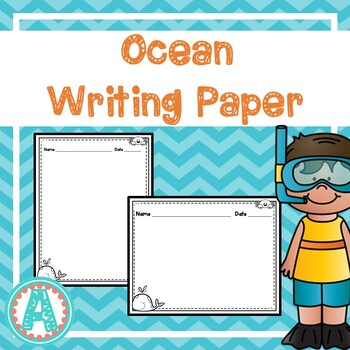 Ocean Animals Writing Paper