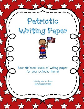 Patriotic Writing Paper