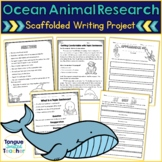 Ocean Animals Writing Project-Notetaking, Organization, and Topic Sentence Focus