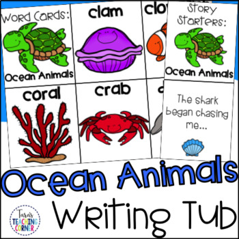 Ocean Animals Writing Tub
