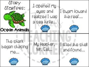Ocean Animals Writing Tub