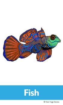 Ocean Animals Yoga Cards for Kids