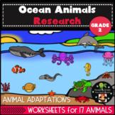 Ocean Animals and Habitat Research Second Grade