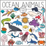 Ocean Animals by Bunny On A Cloud