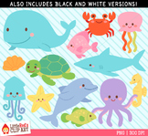 Ocean Animals Clipart
