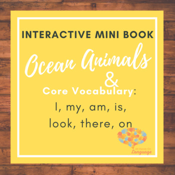 Ocean Animals on My Hook! Interactive Mini-Book Autism Support