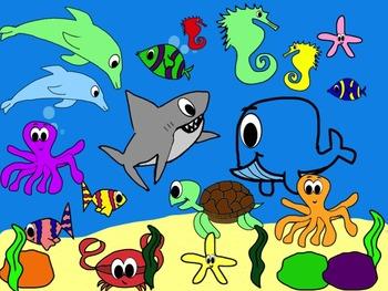 Ocean Animals/Sea Animals Clipart