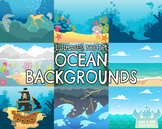 Ocean Backgrounds (Lime and Kiwi Designs)