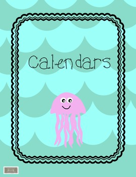 Classroom Binder-Teacher Planner, beach ocean theme