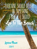 Ocean / Beach Editable Lesson Planner Binder 2017-18