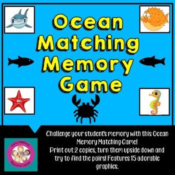 Ocean/Beach Memory Matching Game