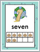Ocean Theme Number Posters Numbers 1-10 with Sand Castle T