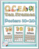 Ocean Theme Classroom Decor Ten Frame Number Posters 11-20