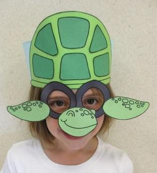 Ocean Beach Sea Turtle Sentence Strip Hat Mask