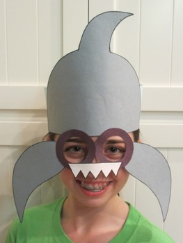 Ocean Beach Shark Sentence Strip Hat Mask