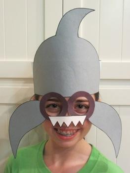 Ocean Beach Shark Sentence Strip Hat Mask