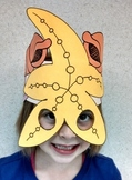 Ocean Beach Starfish & Shells Sentence Strip Hat Mask