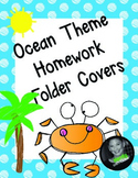 Ocean Beach Theme Homework Folder Covers