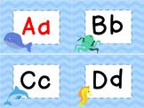 Ocean & Beach Theme Word Wall Headers, Pennant, and Editable Word Cards