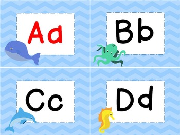 Ocean & Beach Theme Word Wall Headers, Pennant, and Editable Word Cards