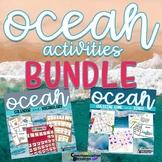 Ocean Beach Themed Calendar Pieces, Vocabulary, and Games Bundle