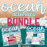 Ocean Beach Themed Calendar Pieces, Vocabulary, and Games Bundle