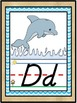 D'Nealian Ocean Beach Under the Sea Themed Alphabet Line {Classroom Decor}