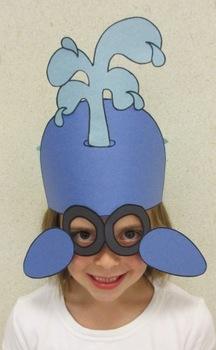 Ocean Beach Whale Sentence Strip Hat Mask