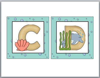 Word Wall Headers - Ocean Theme Classroom Decor