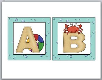 Word Wall Letters - Ocean Theme Classroom Decor