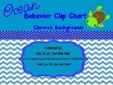 Ocean Behavior Clip Chart - Chevron Backgrounds