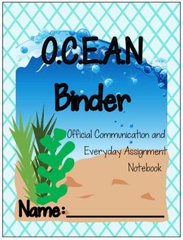 Ocean Binder Cover