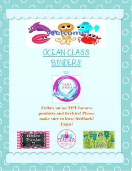 Ocean Binder Cover Bundle