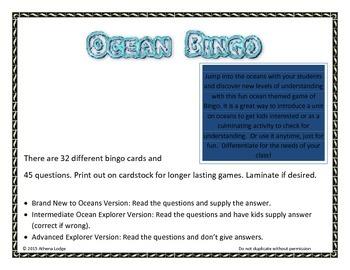 Ocean Bingo - Nonfiction