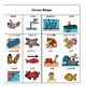 Ocean Bingo Cards