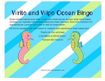 Ocean Bingo Write and Wipe
